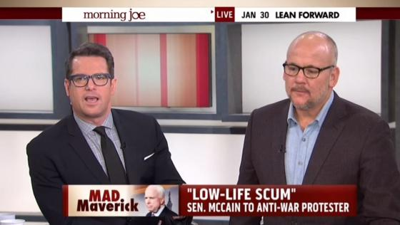 MSNBC Host Scolds McCain for Calling Anti-War Protesters 'Scum'