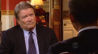 Steve Kroft, CBS News Correspondent; & President Barack Obama; Screen Cap From 12 September 2012 Interview For 60 Minutes | NewsBusters.org